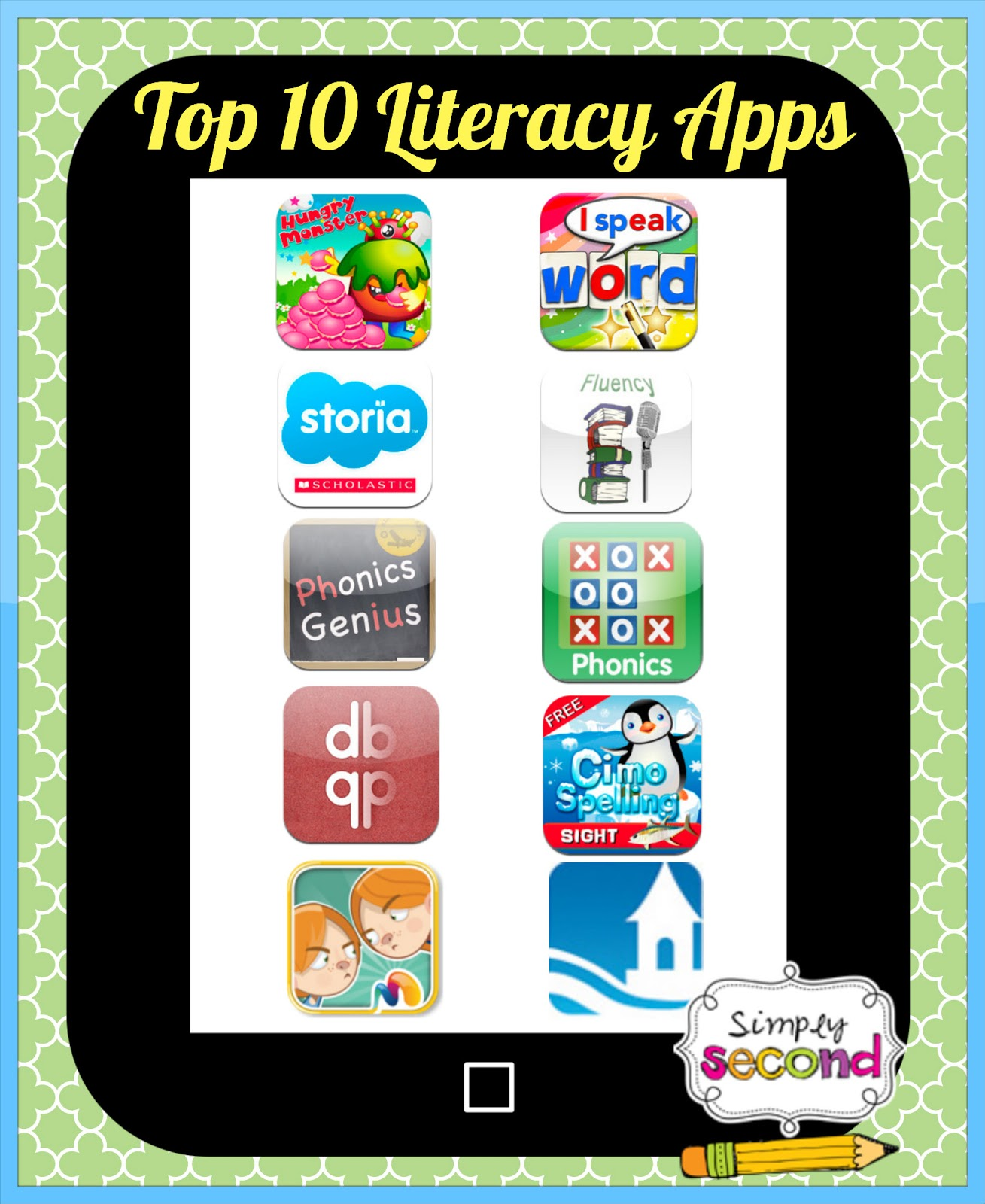 Teaching With Mrs  Hynst: Top 10 Literacy Apps
