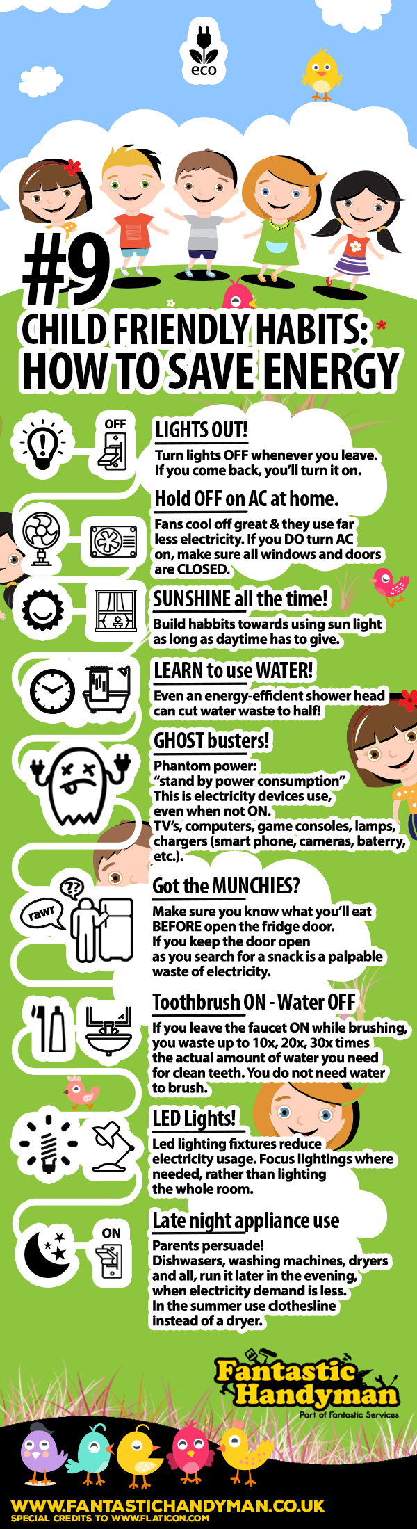 How to Save Energy for Kids #infographic #Safety & Efficiency #kids #infographics #Kids safety #Infographic