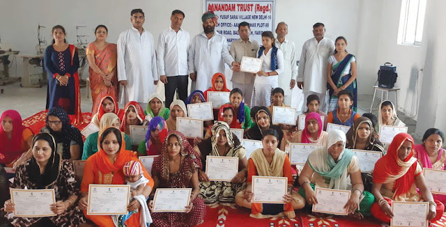 BJP leader Tigaon Rajesh Nagar distributed the certificates to the trainees