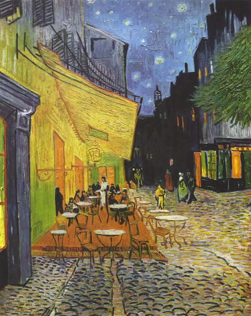 Lukisan Cafe Terrace At Night