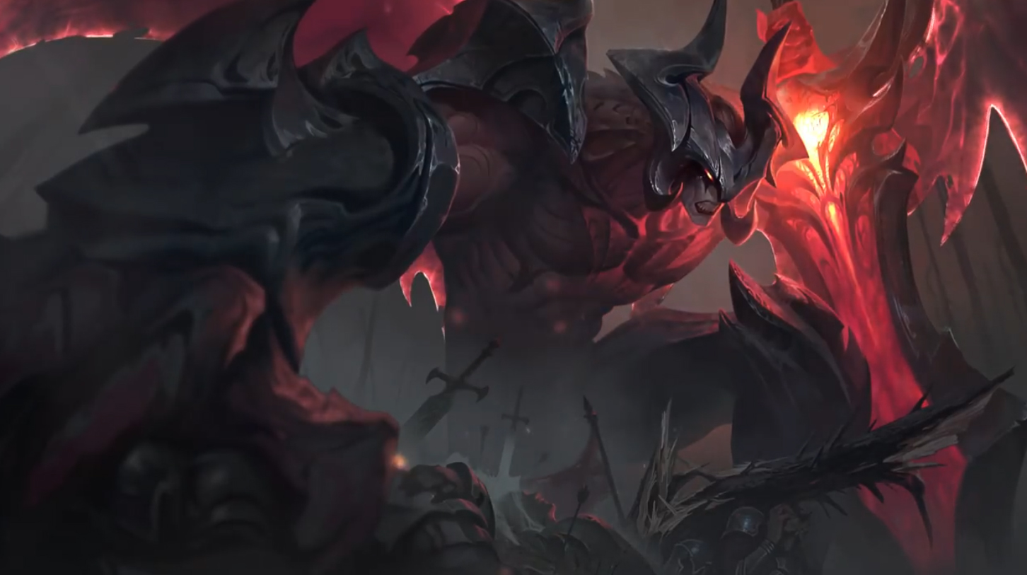 League of Legends Aatrox The Darkin Blade Free Game Animated Wallpaper.