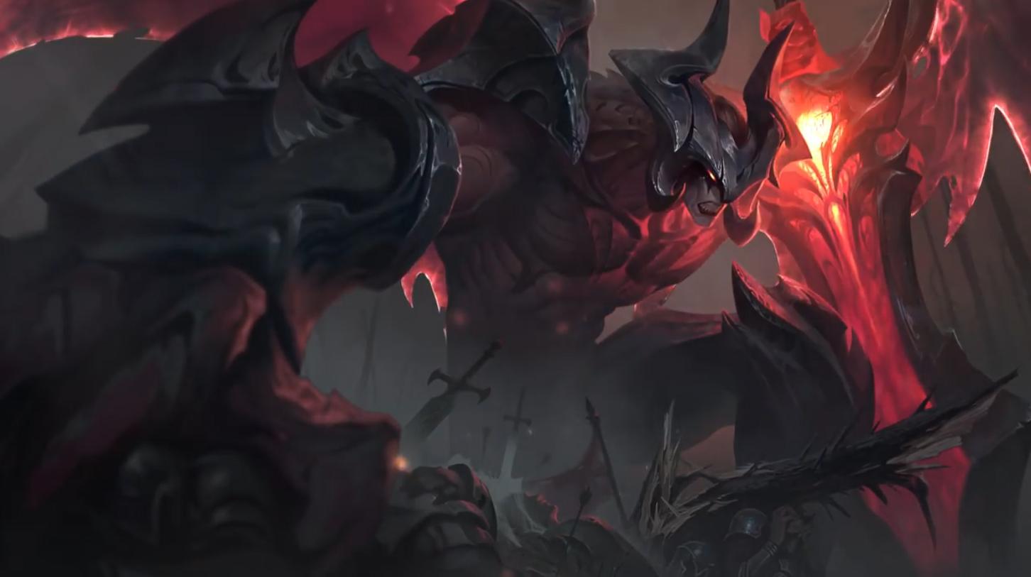 League Of Legends Aatrox The Darkin Blade Animated Wallpaper
