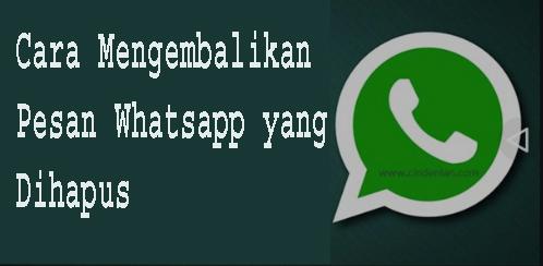 Cara Mengembalikan Pesan Whatsapp yang Dihapus 1