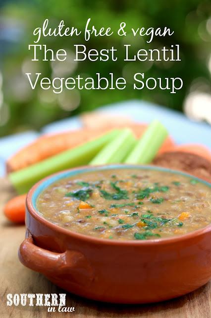 The Best Lentil Vegetable Soup Recipe - gluten free, vegan, clean eating recipe, meal prep recipe, vegetarian, meat free, tomato free