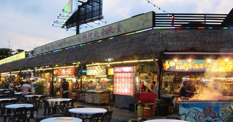 Sungai Pinang Food Court Night Time