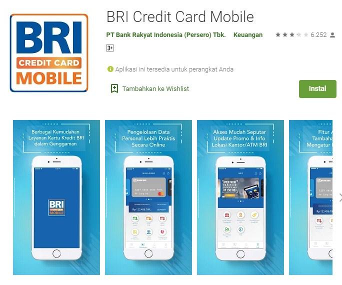 Cara Aktivasi Kartu Kredit BRI Melalui BRI Credit Card Mobile