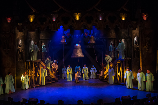 Haden Rider and the cast of THE HUNCHBACK OF NOTRE DAME | Photo by Daniel Parvis
