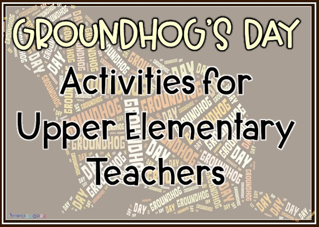 Recognizing Groundhog's Day with FREE activities for grades 4 5 6 upper elementary classroom