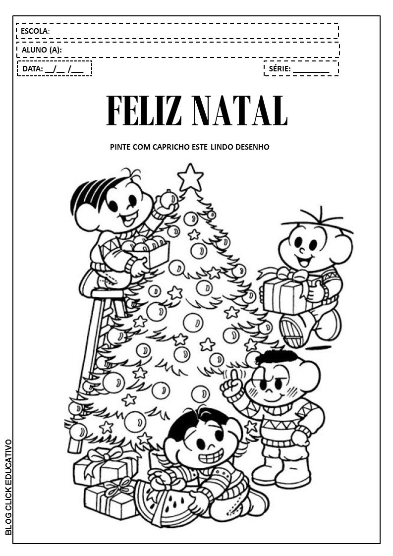 Atividades De Natal Com A Turma Da Monica Para Colorir Clicks