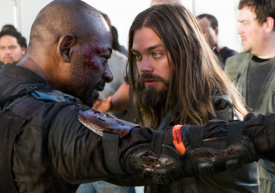 Jesus y Morgan en el episodio 8x02 de The Walking Dead