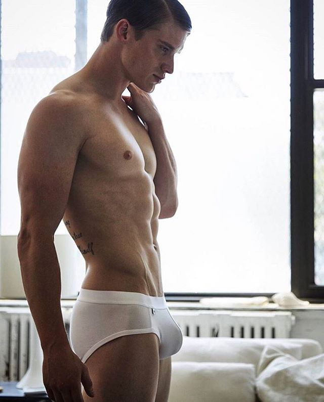 Super sexy looking Matt Mcgue is definitely not shy when it comes to being  nude. The shots with the female models were part of