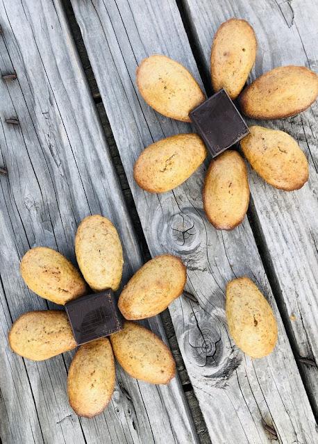 Madeleines coeur chocolat