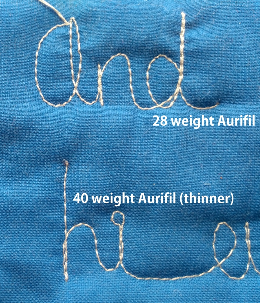 Quilty Habit 5 Tips For Working With 40 And 28 Weight
