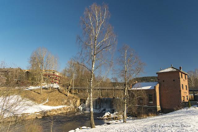 Nieve en Akerselva - Oslo por El Guisante Verde Project