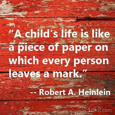 Quotes child life with photos: A child's life is like a piece of paper on which every person leaves a mark.