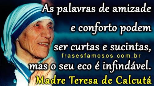Mensagem de Madre Teresa de Calcutá