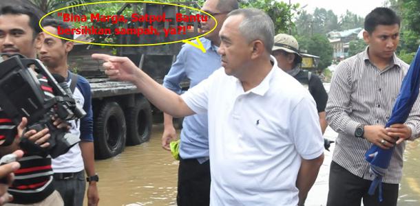 Gubernur Provinsi Riau Intstruksikan Bina Marga dan Satpol PP bantu bersihkan sampah di Pekanbaru