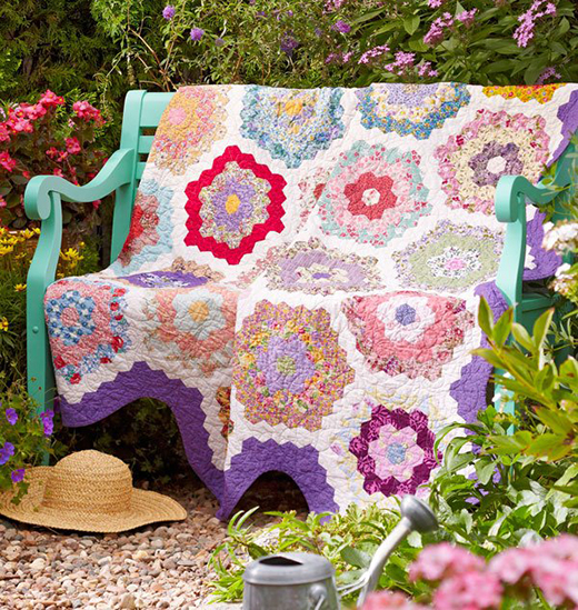 English Garden Quilt Free Pattern Designed By Rebekah Shucksmith of Allpeoplequilt