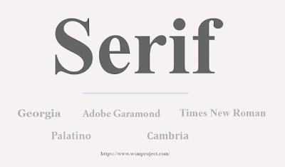 typeface serif