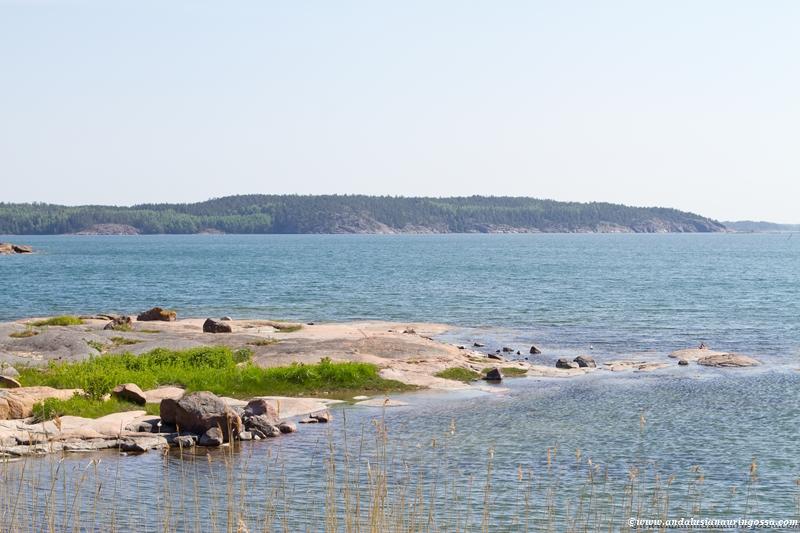 Ahvenanmaa ranta Åland strand