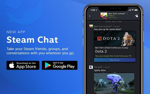 منصة الألعاب Steam تطلق تطبيق دردشة لنظامي التشغيل أندرويد و iOS