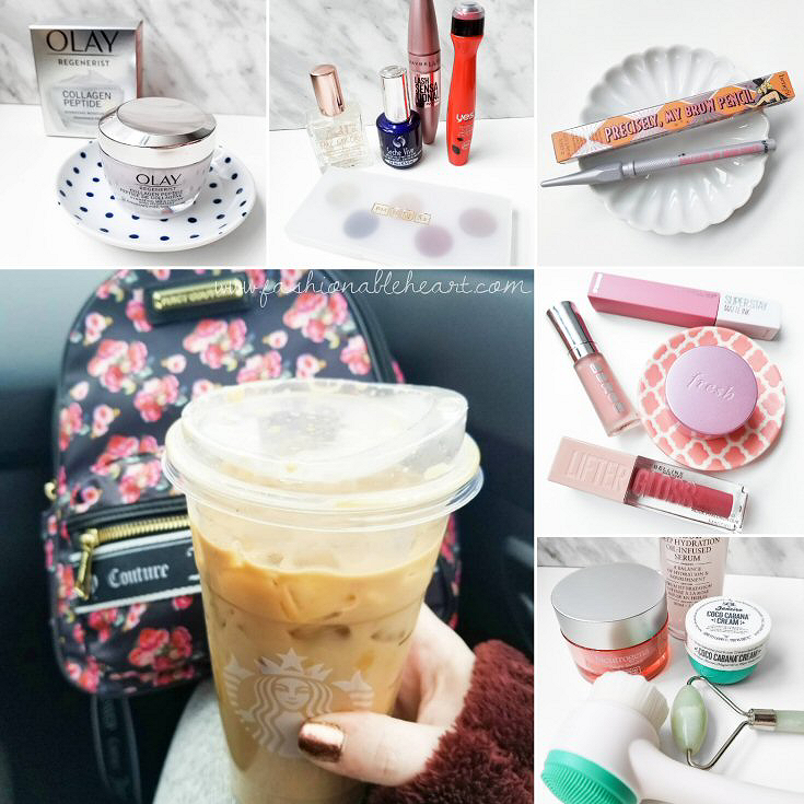 bblogger, bbloggers, bbloggerca, bbloggersca, canadian beauty bloggers, beauty blog, instamonth, instagram roundup, mascara, olay regenerist, benefit, precisely my brow, starbucks coffee, iced caramel macchiato, annual beauty favorites, yearly favorites, skincare