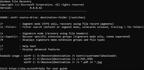إستعادة الملفات المحذوفه من الويندوز 2020 |  أداة Windows File Recovery
