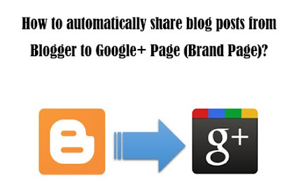 How to auto share Blogger blog posts to Google+ Page?