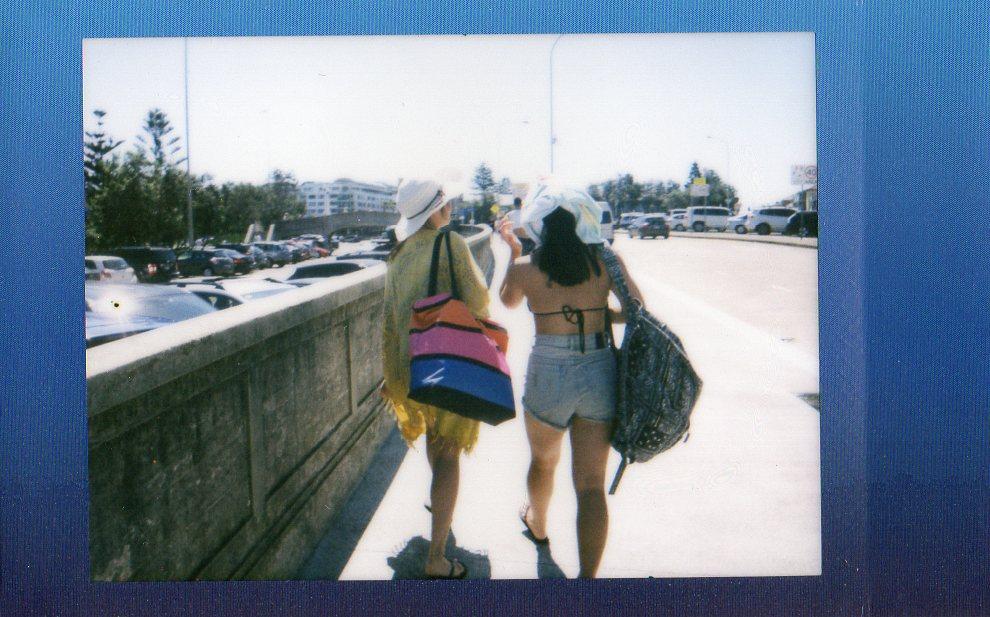 elashock, karen okuda, konichiwakaren, film, polaroid, photography, rainbow, summer, bondi beach, beach, sydney, australia, holidays, nina nguyen, tina gao, instax, fujifilm