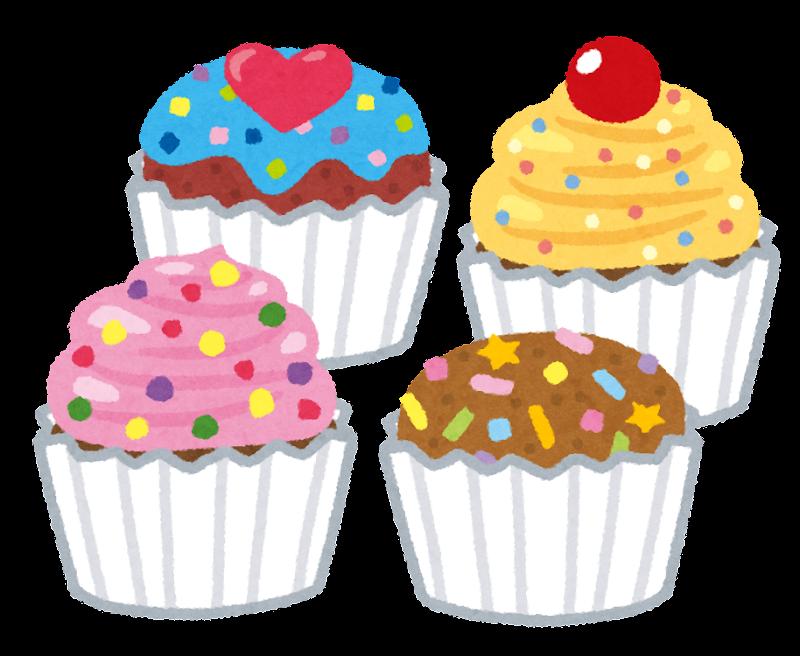 カラフルなカップケーキのイラスト かわいいフリー素材集 いらすとや