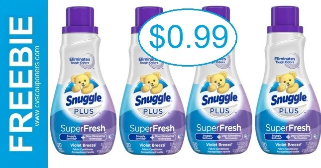 Stock up on Snuggle Fabric Softener at CVS