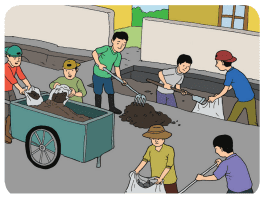 Kerja sama warga masyarakat dalam menjaga kelestarian lingkungan www.simplenew.me