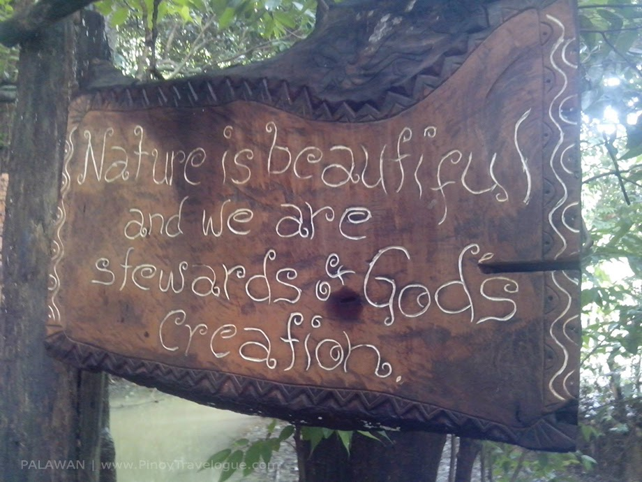 "Signage that reads ""Nature is beautiful and we are stewards of God's creation."""