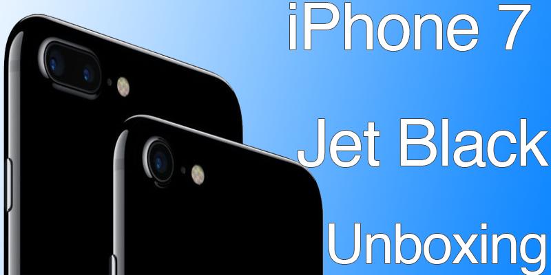 iPhone 7 Jet Black Unboxing