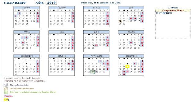 Agenda Perpetua Excel Calendario Perpetuo