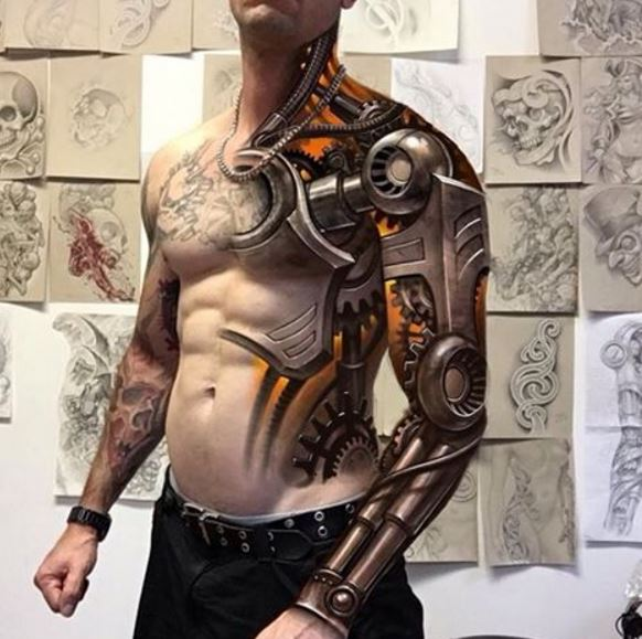 50 Realistic 3D Tattoos Designs for Men and Women (2017) 10 Realistic 3d Tattoos