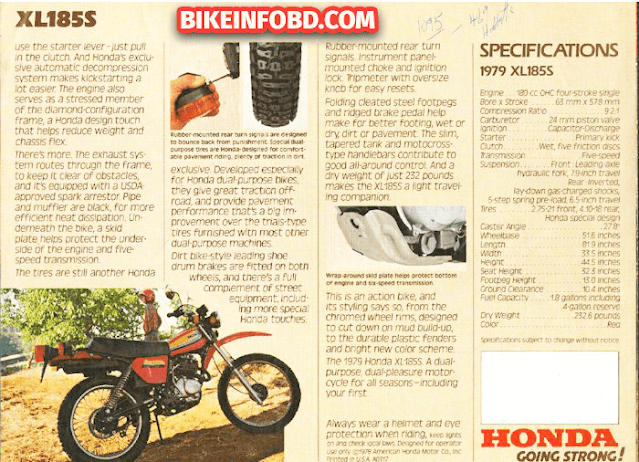 Honda XL185 Infographic