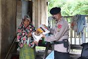 Brimob Aceh Salurkan Bantuan Sembako Untuk Masyarakat
