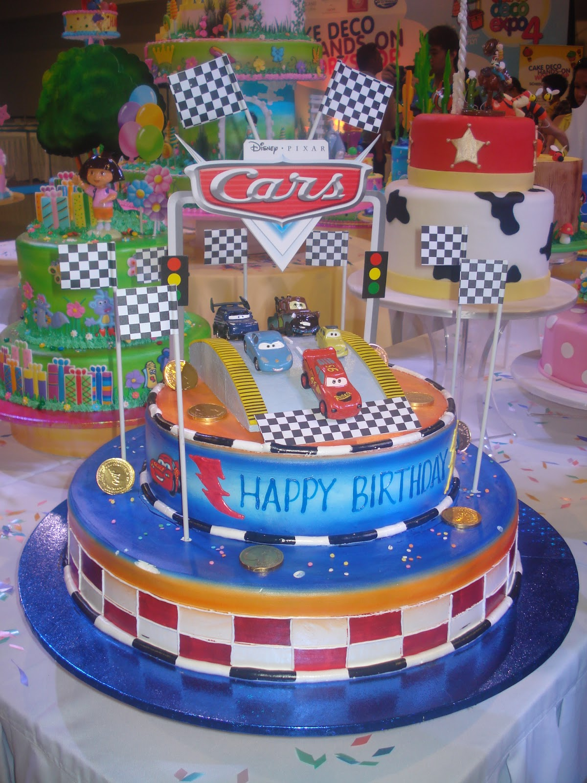 Goldilocks Cake Design For Christening : Goldilocks 4th Cake Deco Expo Roller Coaster Ride
