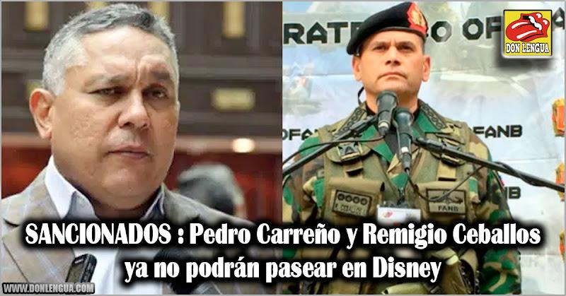 SANCIONADOS : Pedro Carreño y Remigio Ceballos ya no podrán pasear en Disney