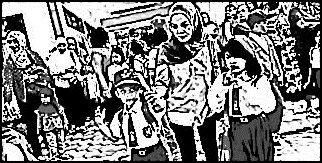 Gambar Ilustrasi Orang Tua Mengantarkan Anak Ke Sekolah