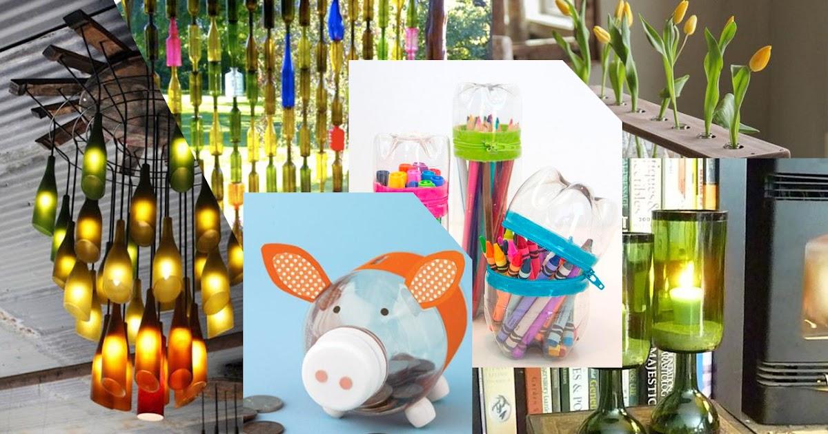 12 Ide Kerajinan Tangan Kreatif dari Botol Bekas ...