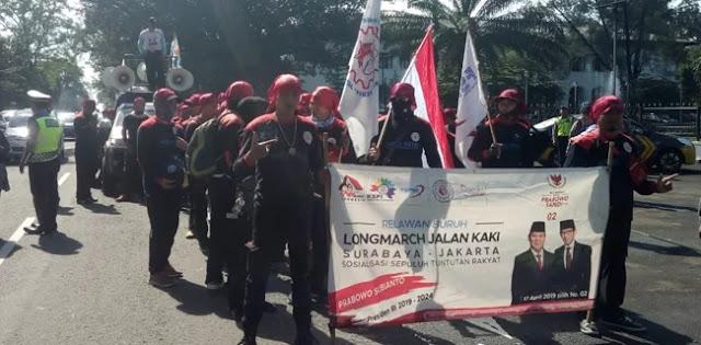 Longmarch Buruh Menangkan 02 Sudah di Jabar, Sampai Jakarta Saat Kampanye Akbar di GBK