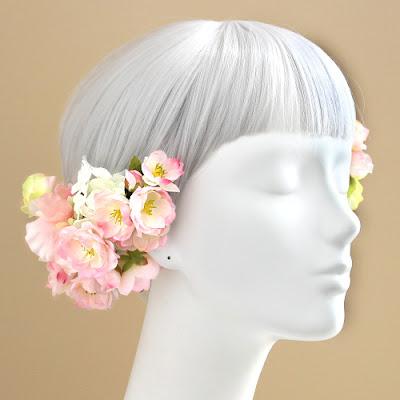 桜の髪飾り&ブーケ2016_ウェディングブーケ&花髪飾りairaka