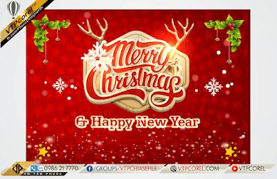 Phông nền giáng sinh - Merry Christmas đỏ tươi