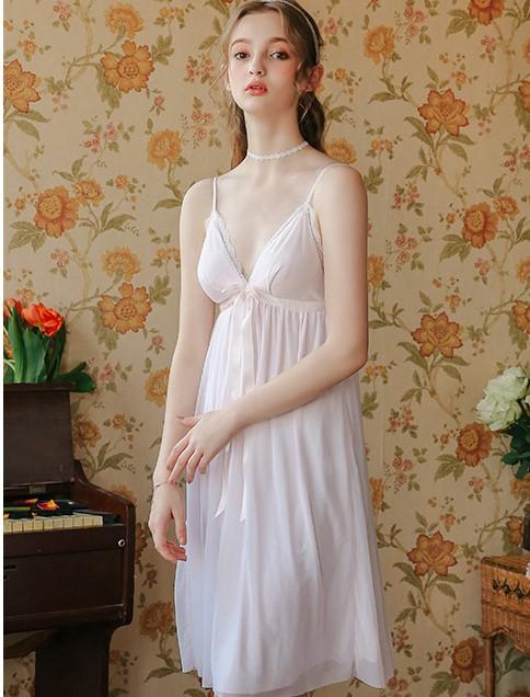 Váy ngủ tiểu thư dễ thương nhẹ nhàng 4
