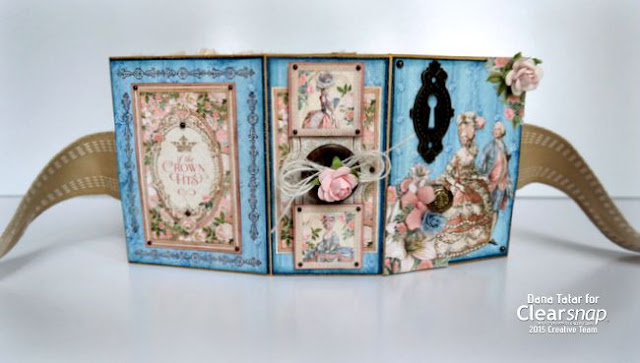 Graphic 45 Gilded Lily ATC Book Box Covers by Dana Tatar for Clearsnap