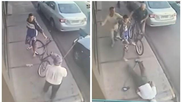 Homem derruba idoso com 'voadora' no interior de São Paulo; veja vídeo