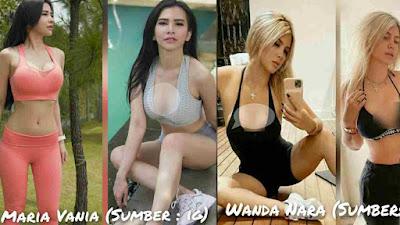 Tengok GayaHotMaria Vania dan Wanda Nara saat Olahraga