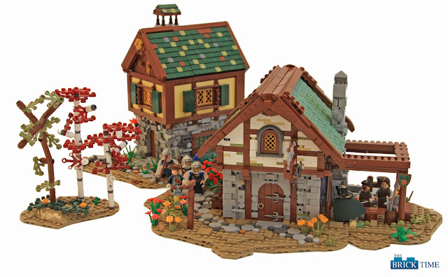 Lego Medieval House tiles or studs: 2016